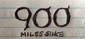 900 Miles: Showers. Thunderstorms. Bubbles.